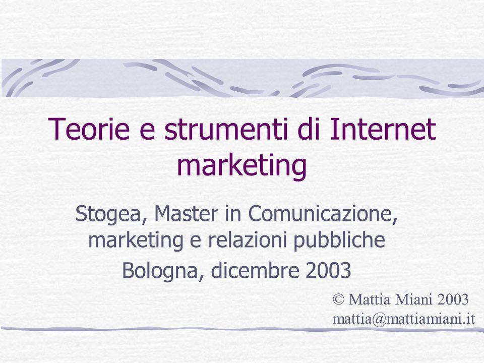 Teorie e strumenti di Internet marketing