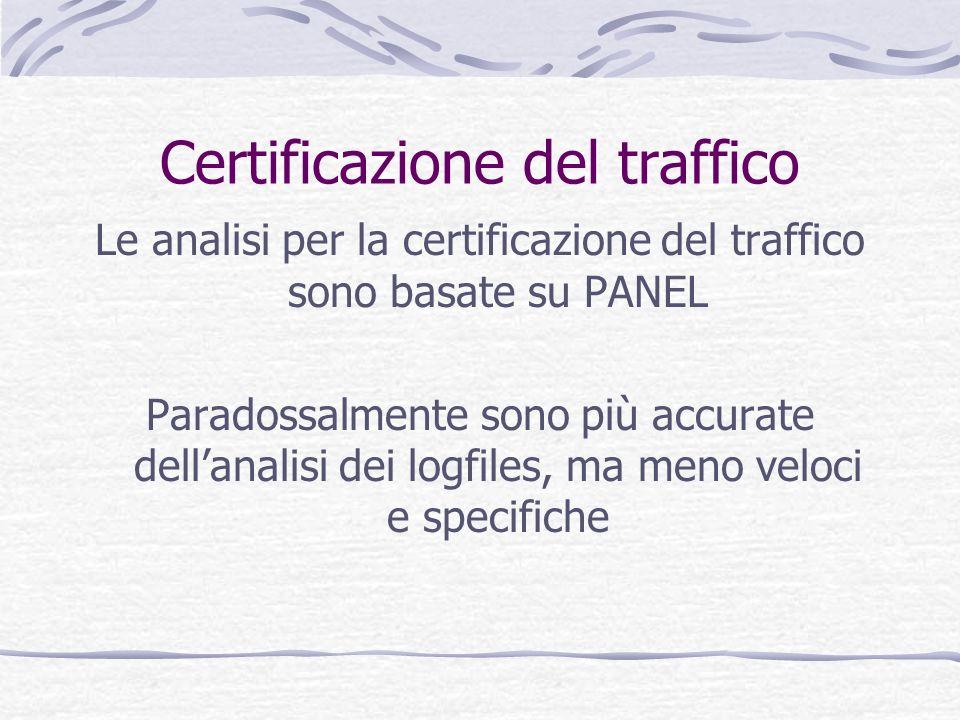 Certificazione del traffico