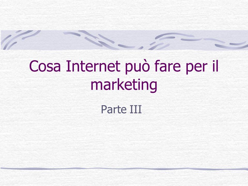 Cosa Internet può fare per il marketing