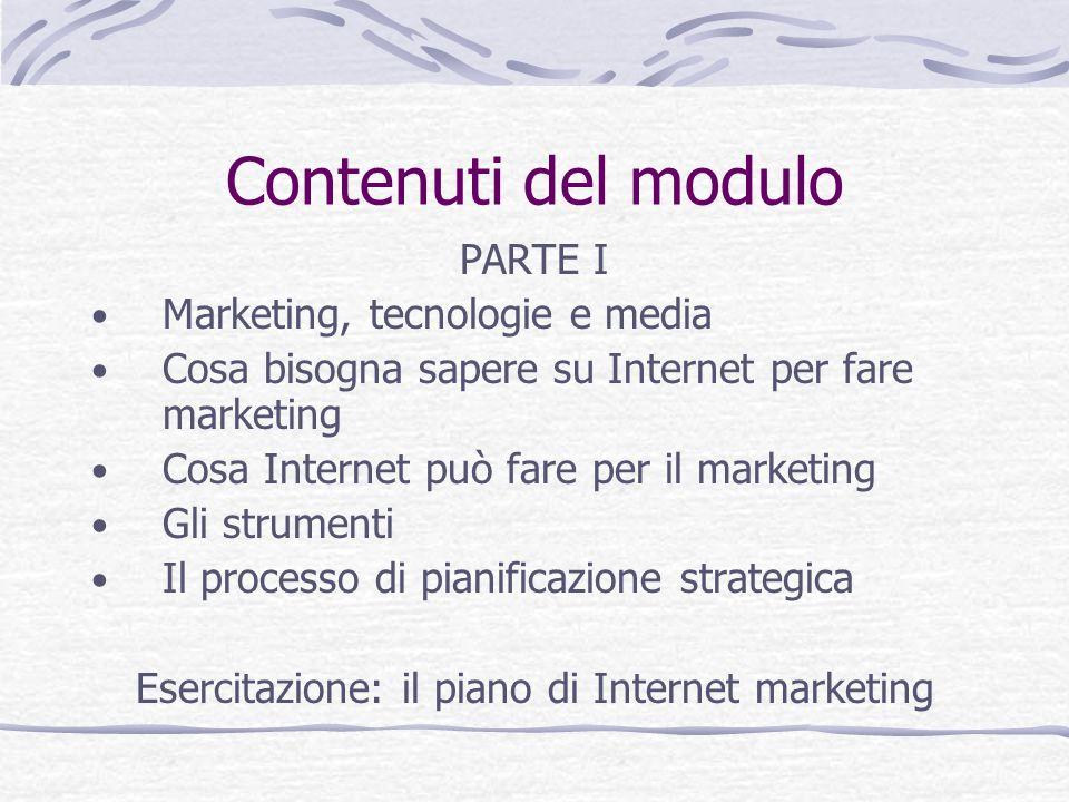Esercitazione: il piano di Internet marketing