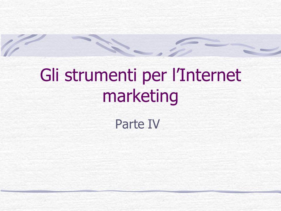 Gli strumenti per l'Internet marketing