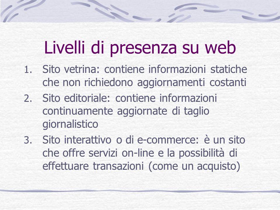 Livelli di presenza su web