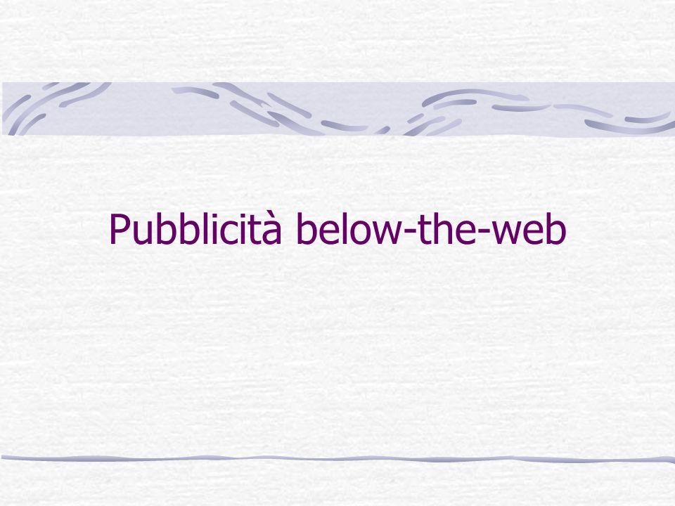Pubblicità below-the-web