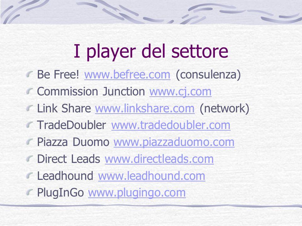 I player del settore Be Free! www.befree.com (consulenza)