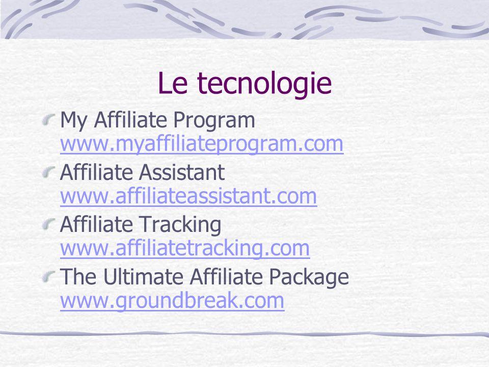 Le tecnologie My Affiliate Program www.myaffiliateprogram.com