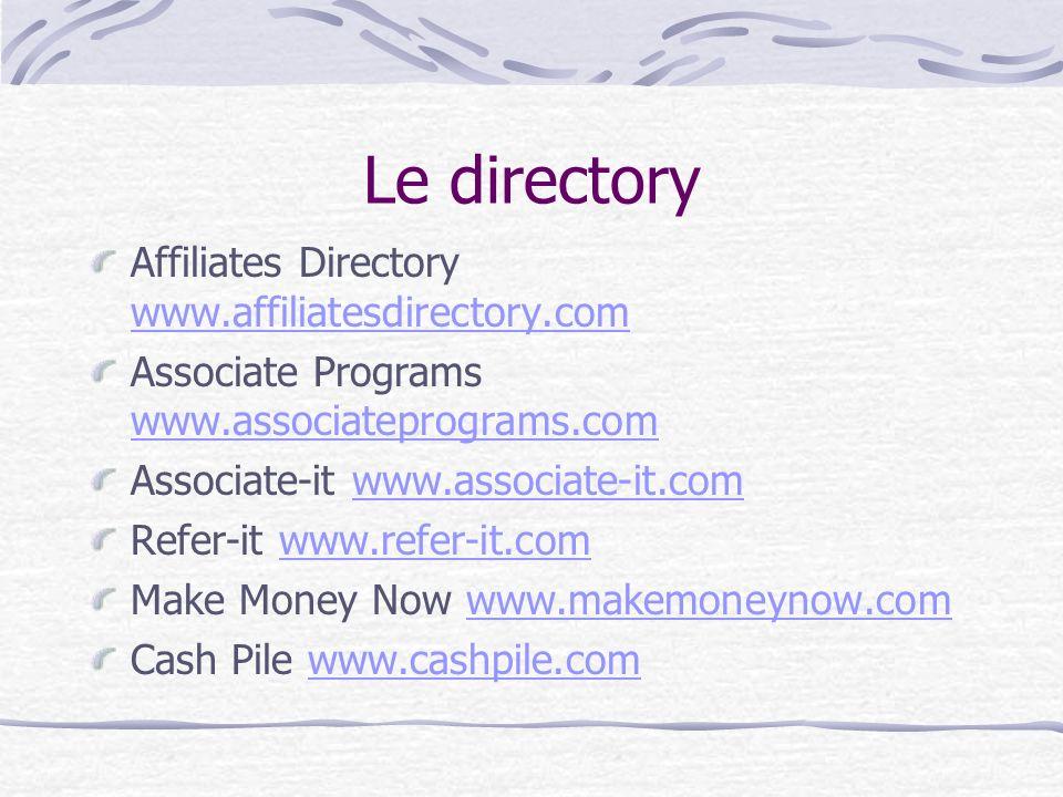 Le directory Affiliates Directory www.affiliatesdirectory.com