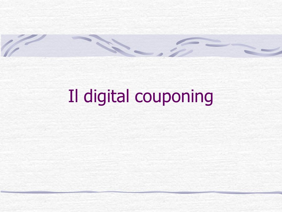 Il digital couponing