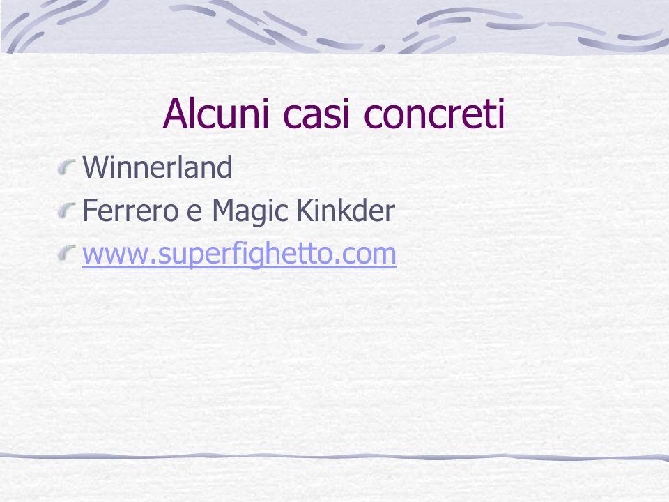 Alcuni casi concreti Winnerland Ferrero e Magic Kinkder