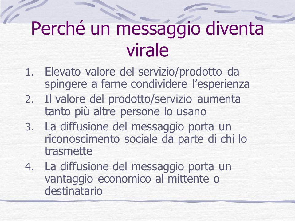 Perché un messaggio diventa virale