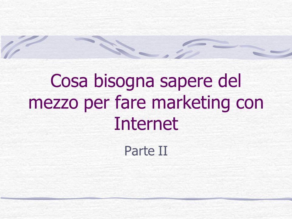 Cosa bisogna sapere del mezzo per fare marketing con Internet
