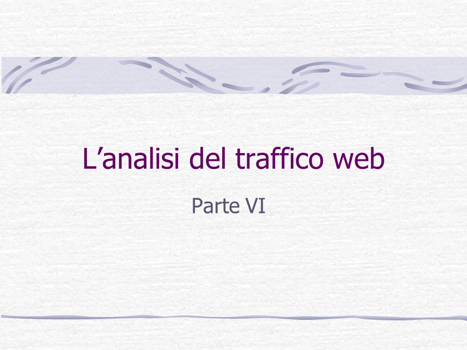 L'analisi del traffico web