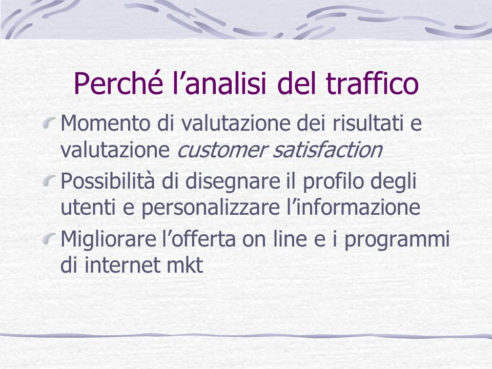 Perché l'analisi del traffico