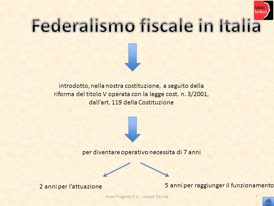 Federalismo fiscale in Italia