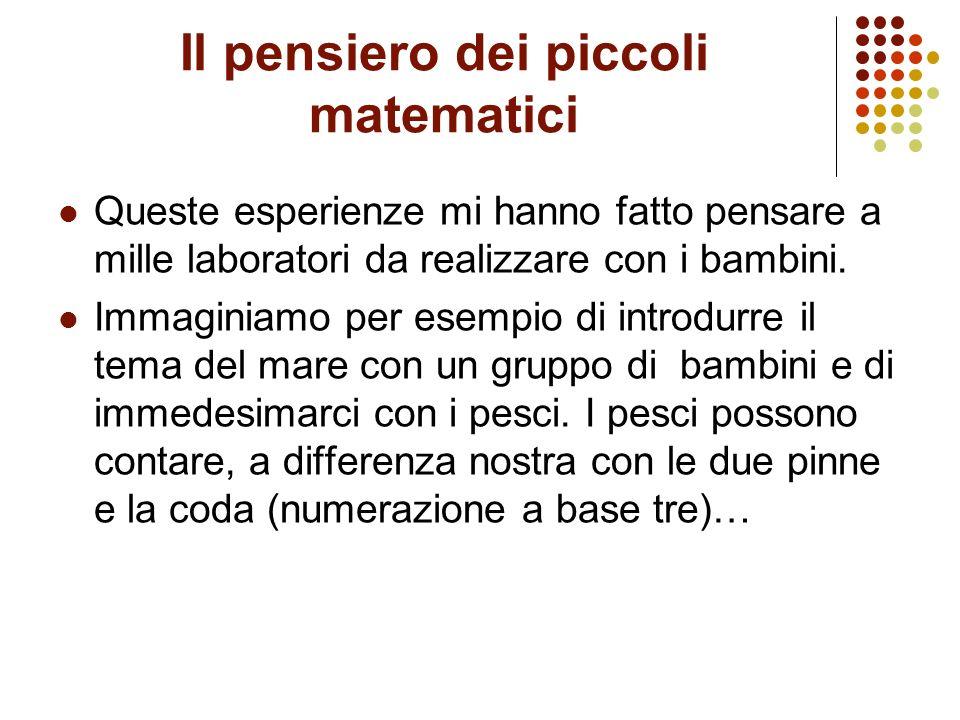 Il pensiero dei piccoli matematici