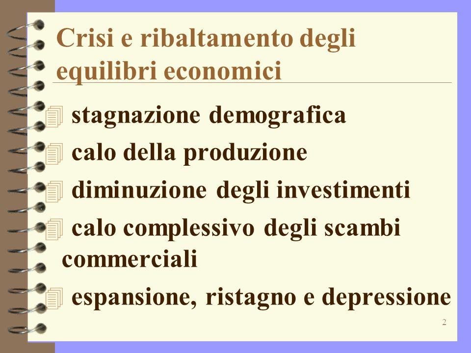 Crisi e ribaltamento degli equilibri economici