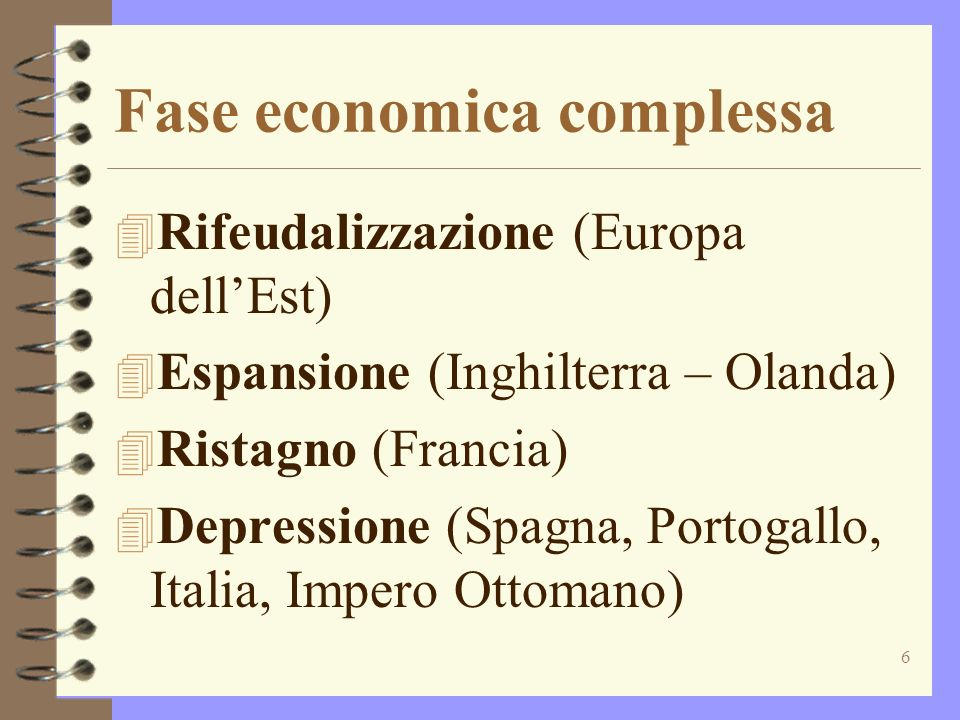 Fase economica complessa