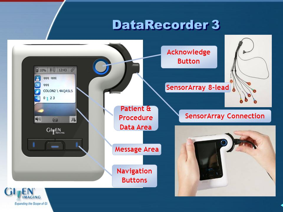 Patient & Procedure Data Area SensorArray Connection