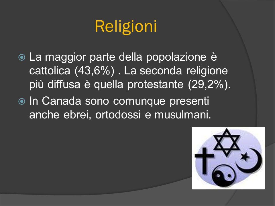 Religioni La maggior parte della popolazione è cattolica (43,6%) . La seconda religione più diffusa è quella protestante (29,2%).