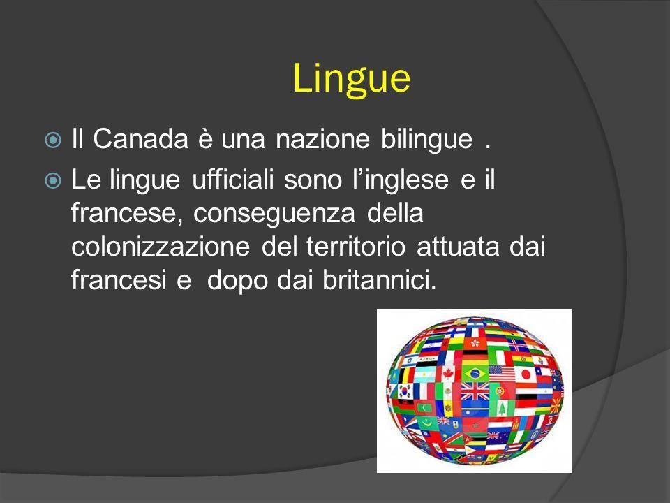 Lingue Il Canada è una nazione bilingue .