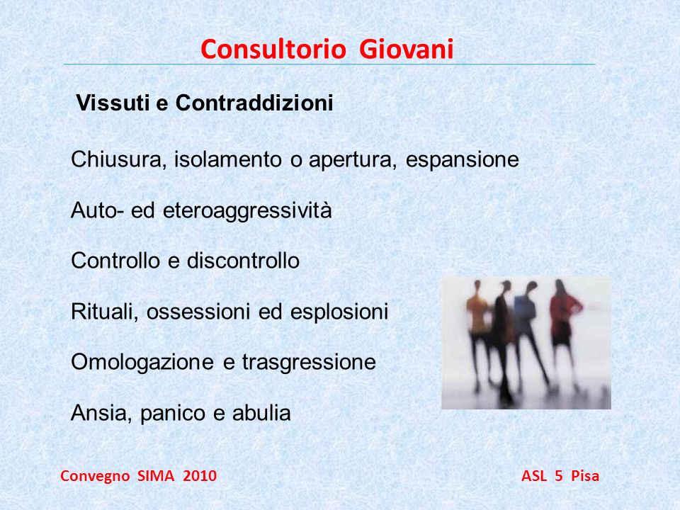 Consultorio Giovani Vissuti e Contraddizioni