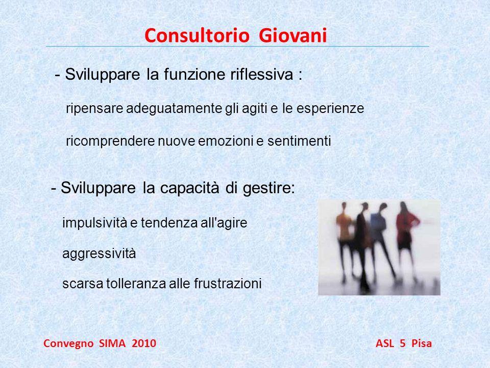 Consultorio Giovani Sviluppare la funzione riflessiva :