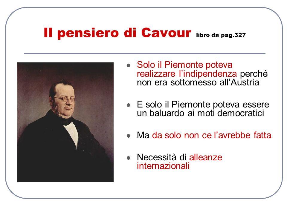 Il pensiero di Cavour libro da pag.327