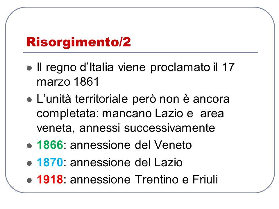 Risorgimento/2 Il regno d'Italia viene proclamato il 17 marzo 1861