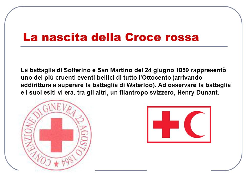 La nascita della Croce rossa