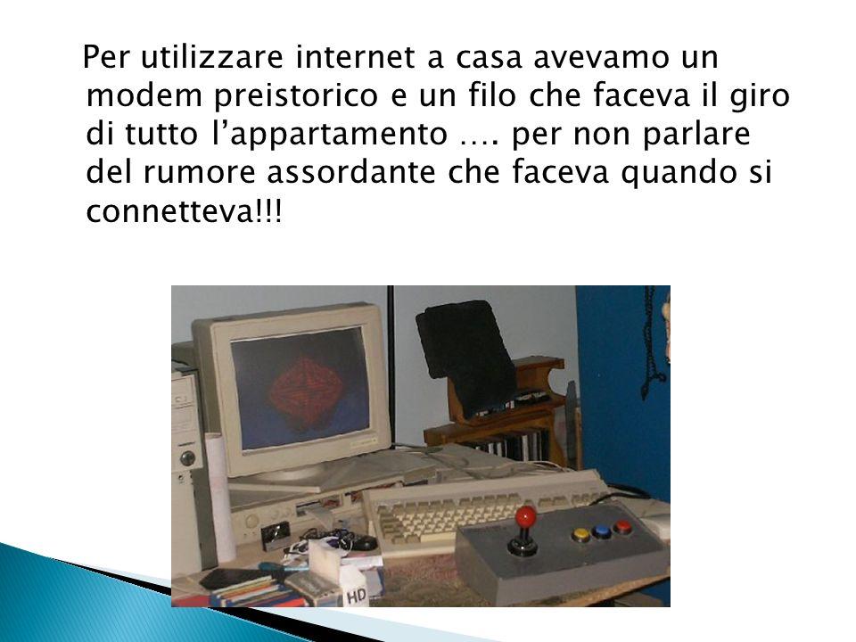Per utilizzare internet a casa avevamo un modem preistorico e un filo che faceva il giro di tutto l'appartamento ….