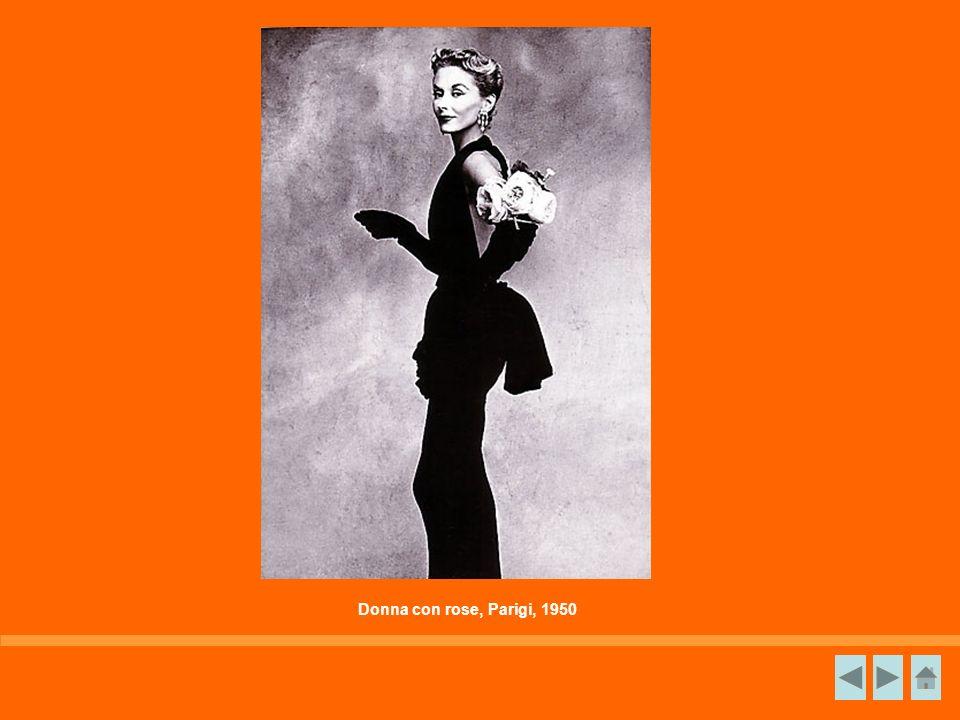 Donna con rose, Parigi, 1950