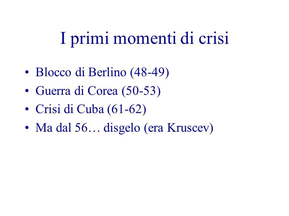 I primi momenti di crisi