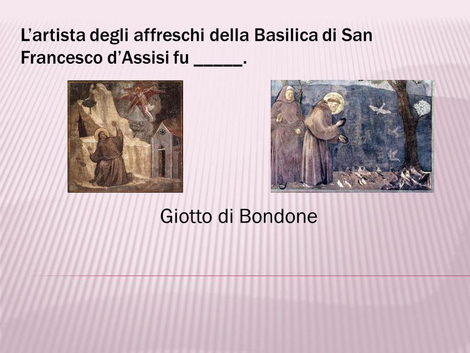 L'artista degli affreschi della Basilica di San Francesco d'Assisi fu _____.