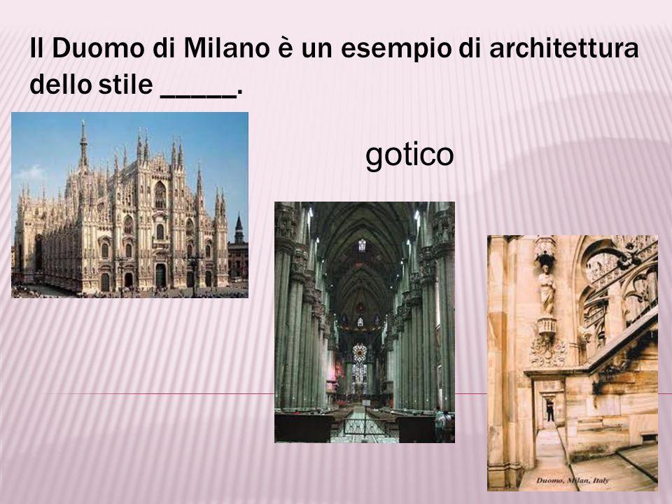 Il Duomo di Milano è un esempio di architettura dello stile _____.