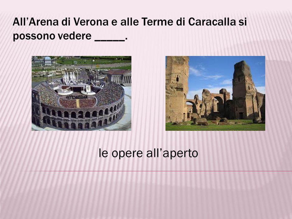 All'Arena di Verona e alle Terme di Caracalla si possono vedere _____.