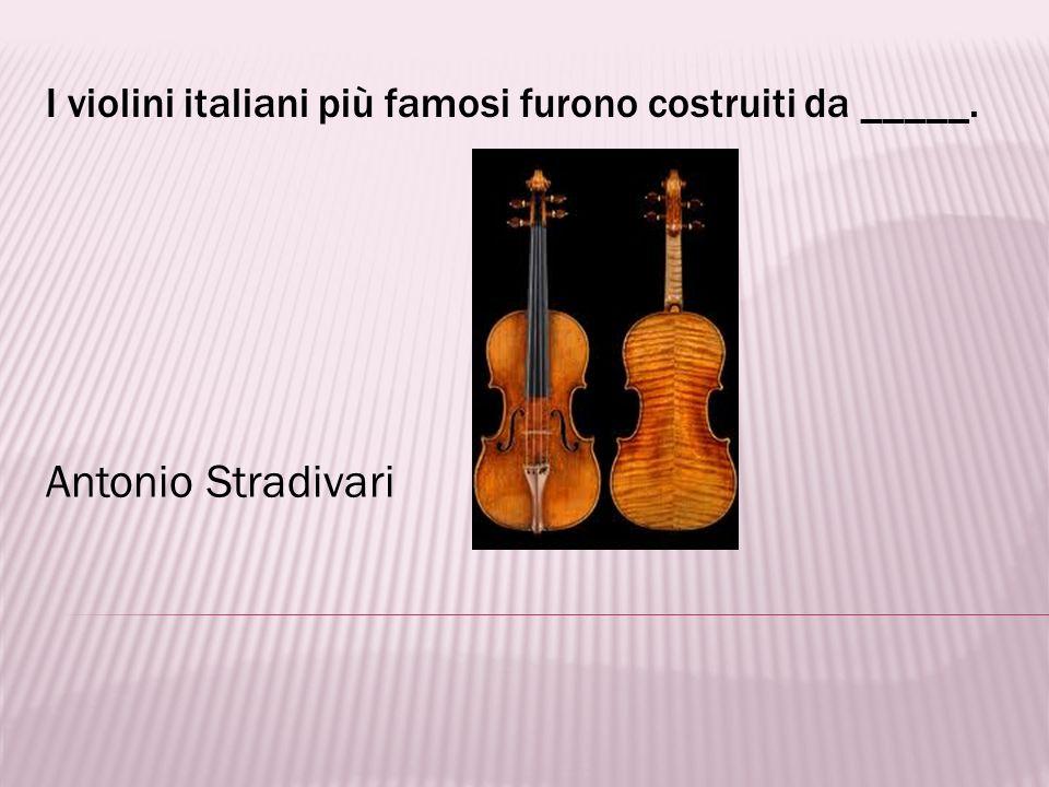 I violini italiani più famosi furono costruiti da _____.