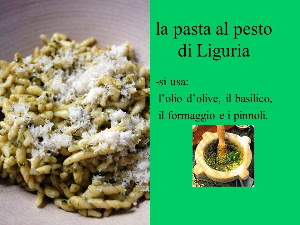 la pasta al pesto di Liguria