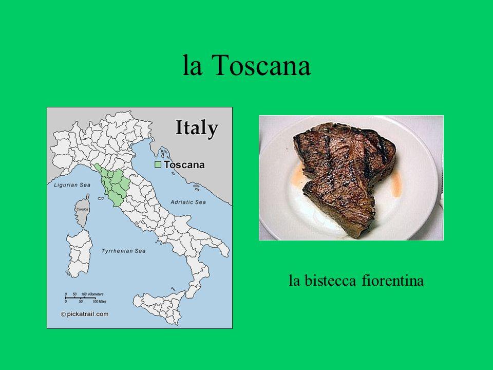 la Toscana la bistecca fiorentina