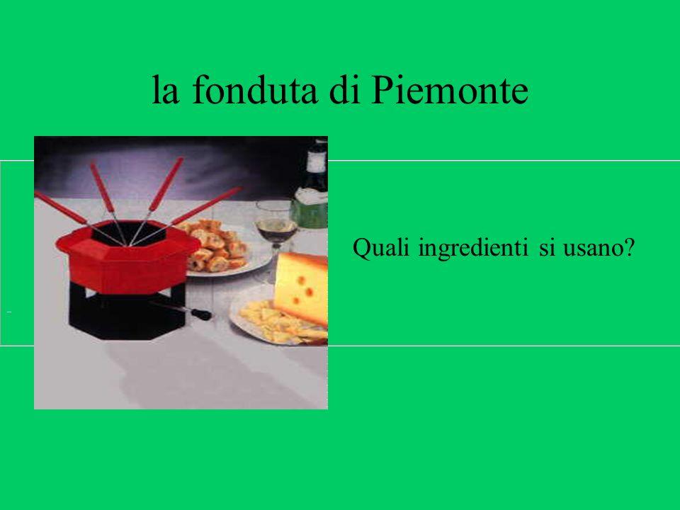 la fonduta di Piemonte