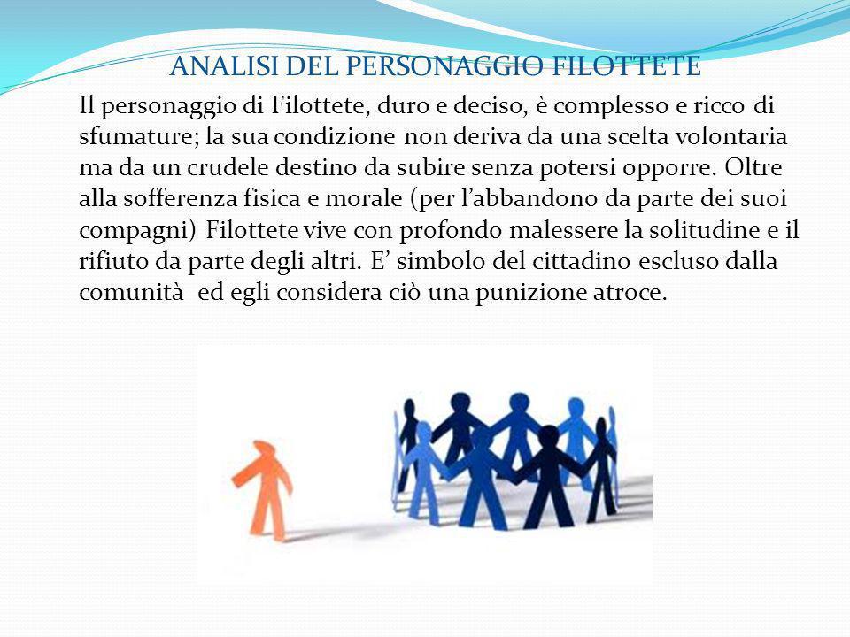 ANALISI DEL PERSONAGGIO FILOTTETE