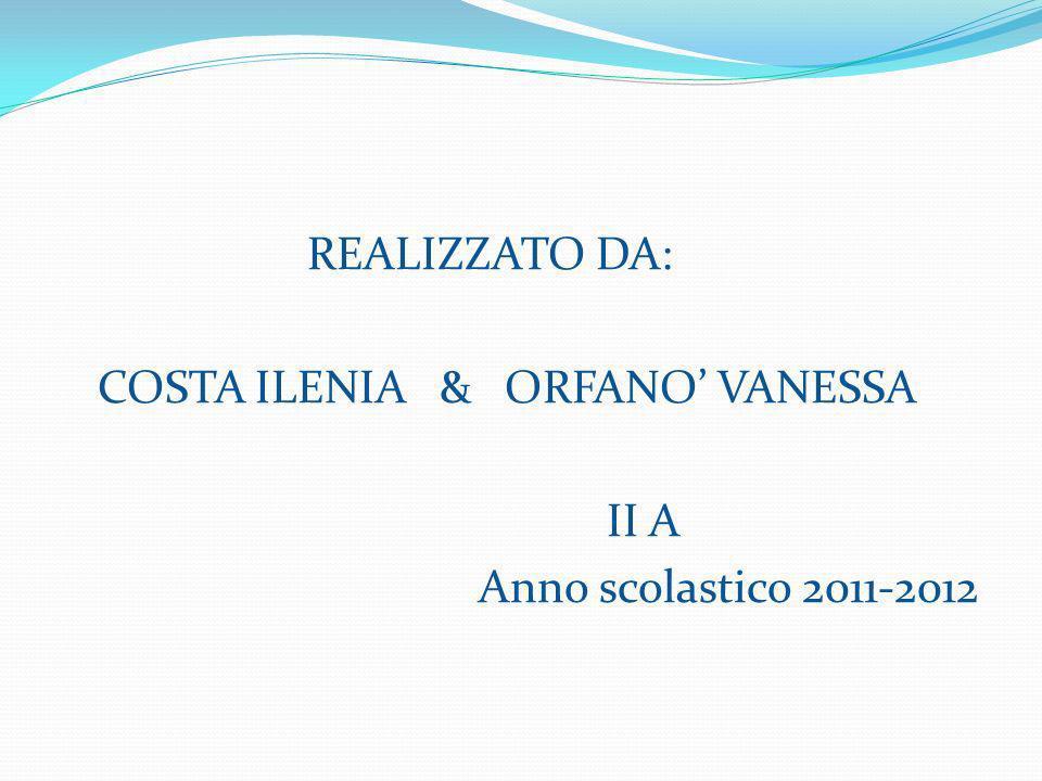 COSTA ILENIA & ORFANO' VANESSA II A Anno scolastico 2011-2012