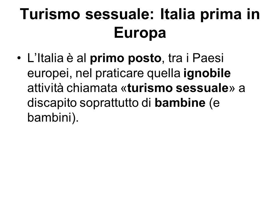 Turismo sessuale: Italia prima in Europa