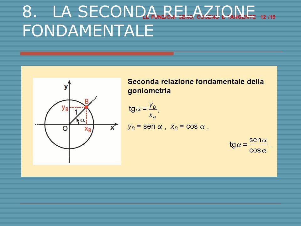 8. LA SECONDA RELAZIONE FONDAMENTALE