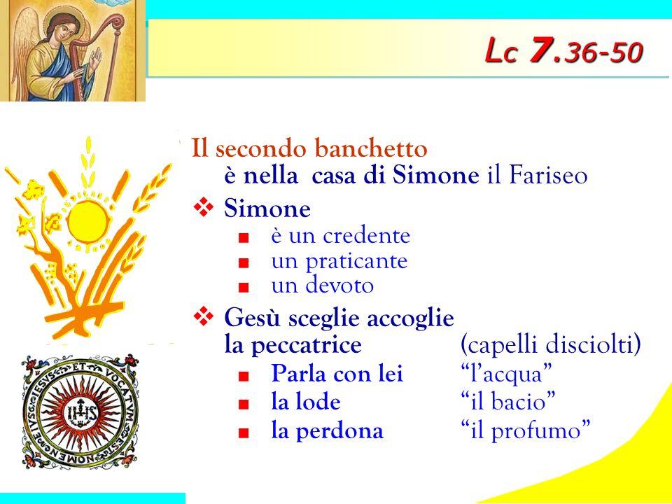 Lc 7.36-50 Il secondo banchetto è nella casa di Simone il Fariseo