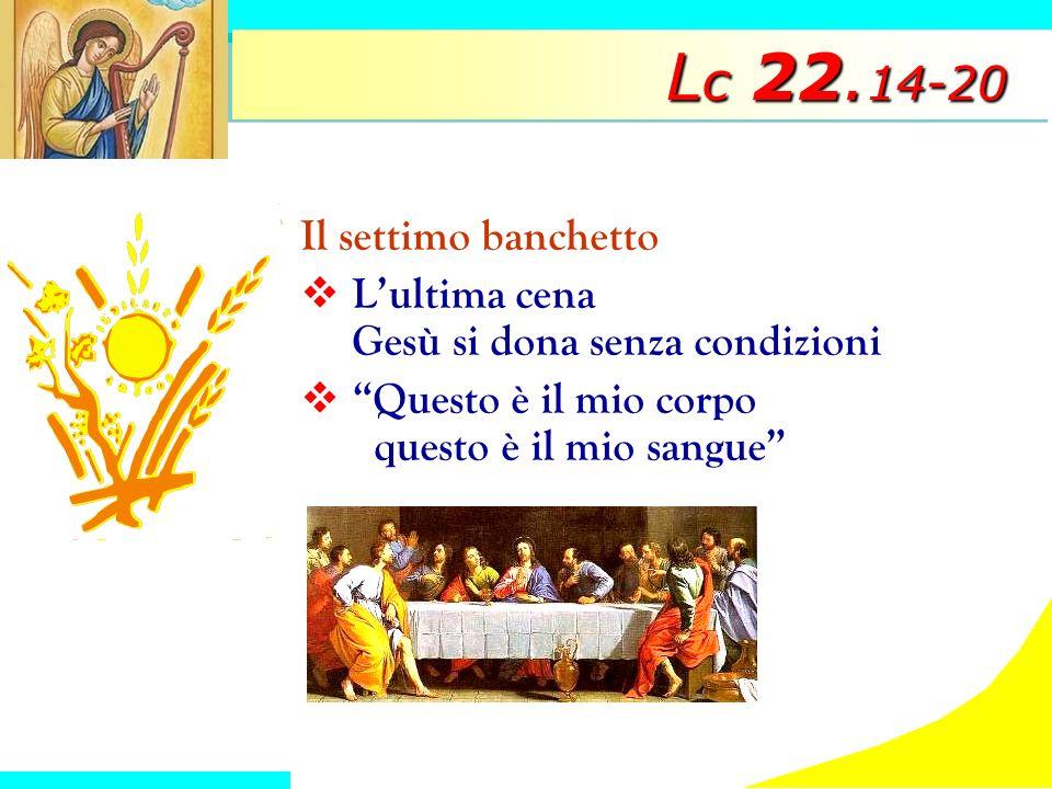 Lc 22.14-20 Il settimo banchetto
