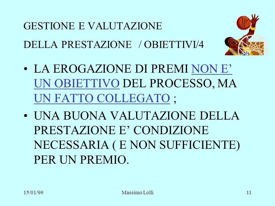GESTIONE E VALUTAZIONE DELLA PRESTAZIONE / OBIETTIVI/4