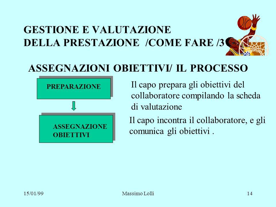 GESTIONE E VALUTAZIONE DELLA PRESTAZIONE /COME FARE /3