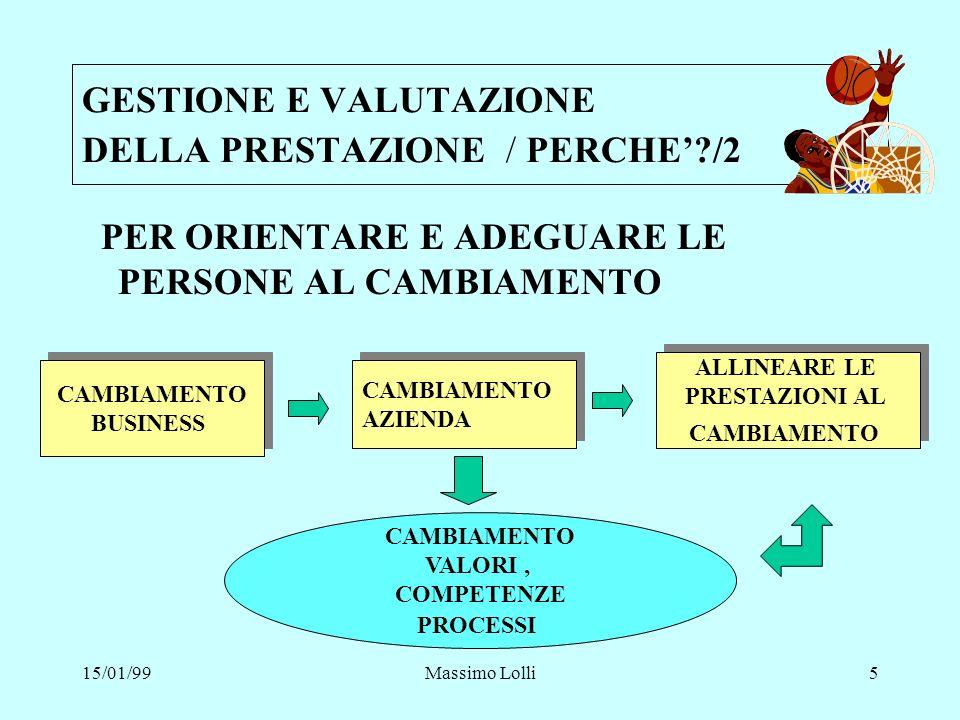 GESTIONE E VALUTAZIONE DELLA PRESTAZIONE / PERCHE' /2