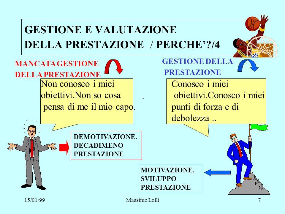 GESTIONE E VALUTAZIONE DELLA PRESTAZIONE / PERCHE' /4