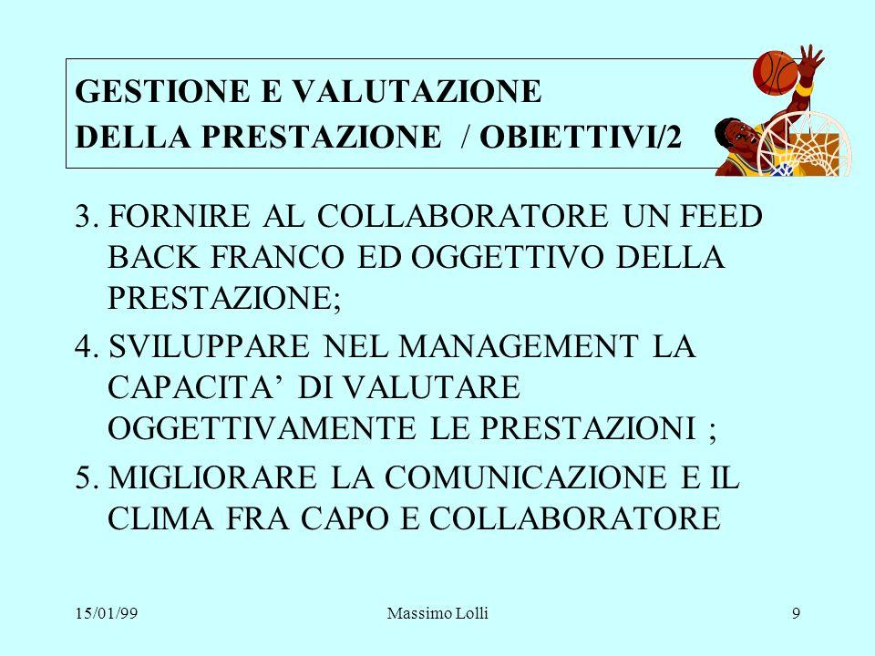 GESTIONE E VALUTAZIONE DELLA PRESTAZIONE / OBIETTIVI/2