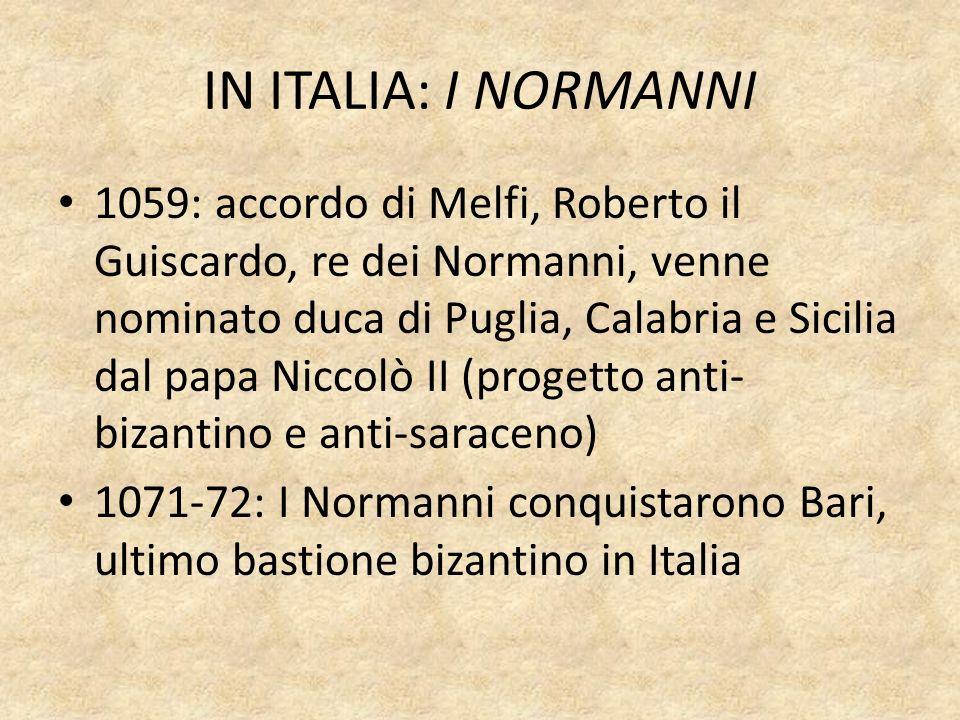 IN ITALIA: I NORMANNI